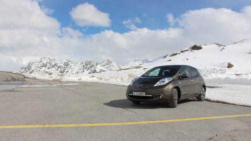 Mit dem 30 kWh Nissan Leaf auf den Gipfel der Alpen