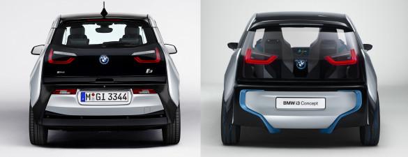 BMW i3 Vergleich Concept Serie Heck