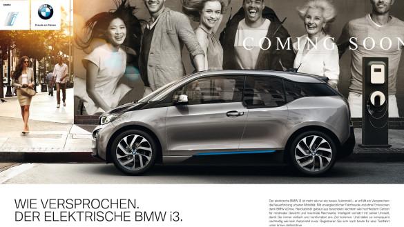 BMW i3 Werbekampagne 'Wie versprochen'