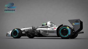 Formel E Rennwagen