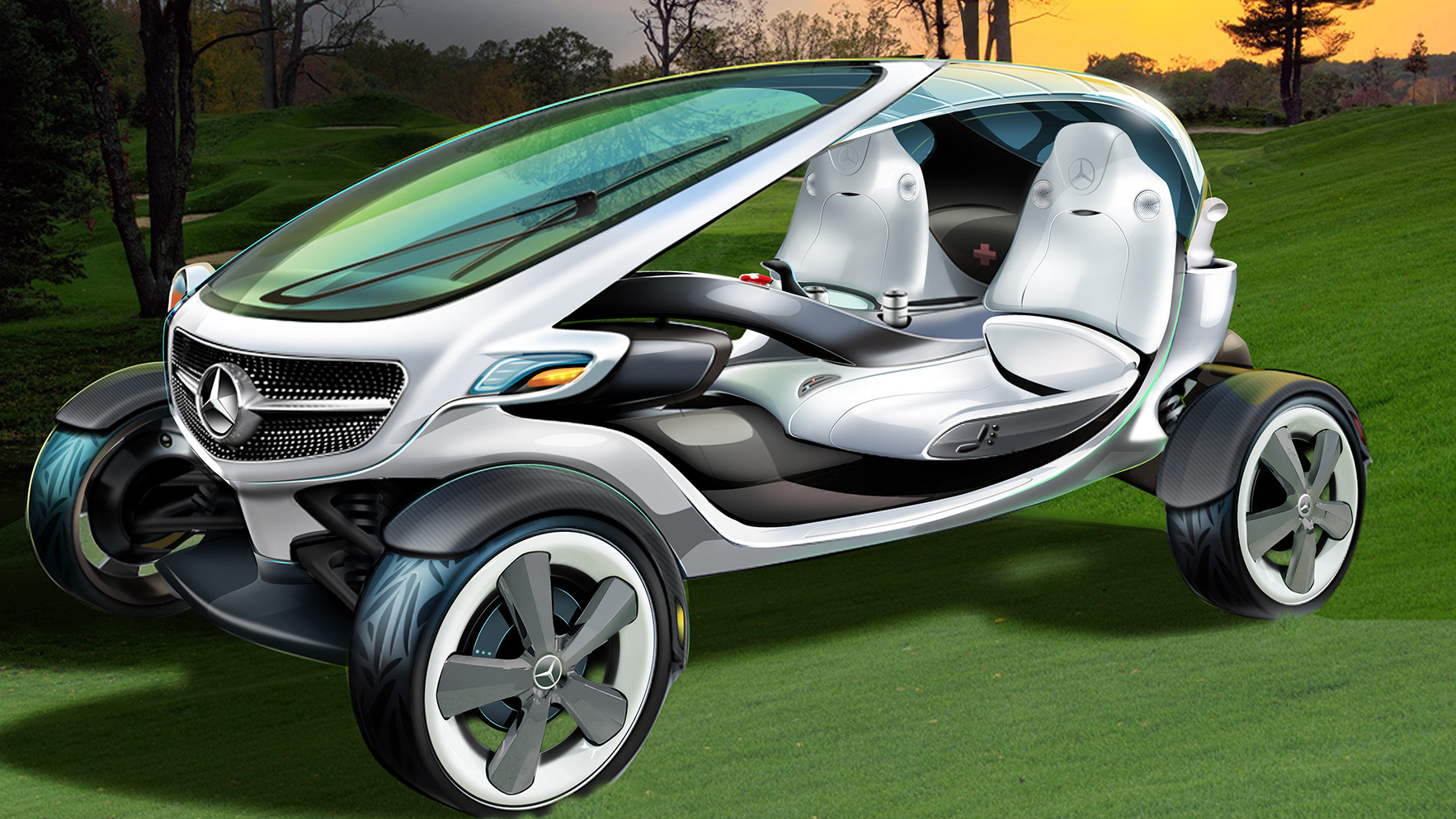 Mercedes zeigt Golf Cart Studie