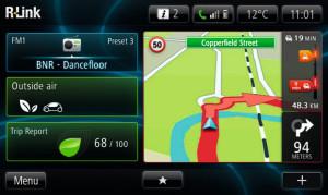 Renault ZOE R-Link Home-Screen