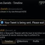 Renault ZOE R-Link Twitter