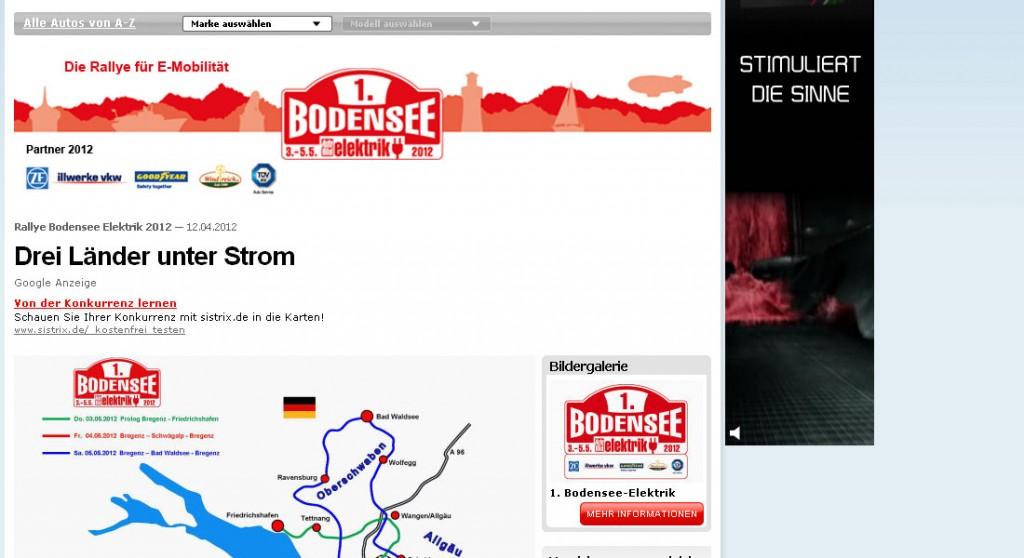 1. Rallye Bodensee Elektrik 2012