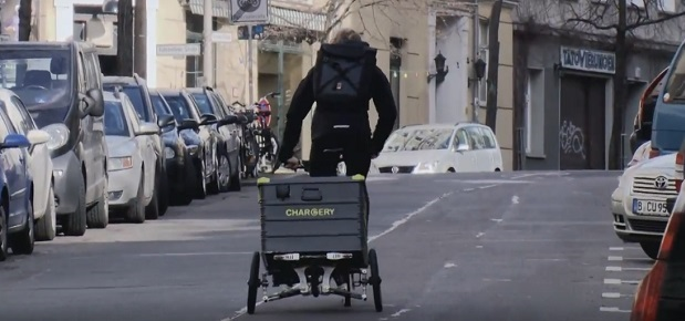 Chargery bringt den Strom mit dem Fahrrad