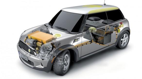 gebrauchte Batterie des BMW Mini E als Energiespeicher für Haus