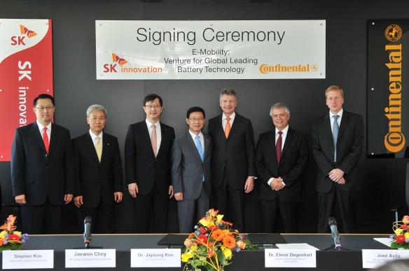 Continental und SK Innovation Lithium-Ionen Batterie